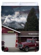Last Chance Garage Final Duvet Cover