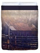Last Foggy Morning On The Farm Duvet Cover