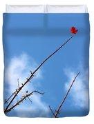 Last Leaf Standing Duvet Cover