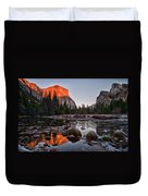 Last Light At Valley View Duvet Cover