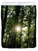 Last Light In The Forest Duvet Cover