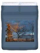 Last Light Last Leaves Duvet Cover