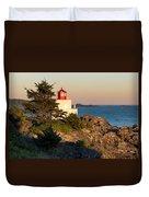 Last Light On Amphritite Lighthouse Duvet Cover