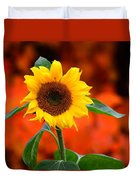 Last Sunflower Horizontal Duvet Cover