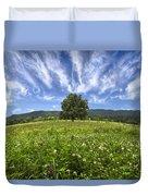 Last Tree Duvet Cover by Debra and Dave Vanderlaan
