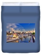 Late Afternoon At Constitution Marina - Charlestown Duvet Cover