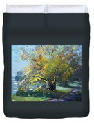 Late Afternoon By The River Duvet Cover