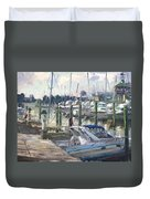 Late Afternoon In Virginia Harbor Duvet Cover