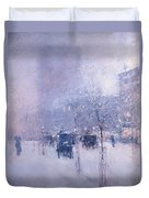 Late Afternoon - New York Winter Duvet Cover