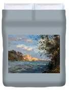 Late Afternoon On Goat Island Duvet Cover