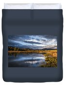 Late Afternoon On The Tuolumne River Duvet Cover
