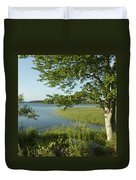 Late Afternoon On Worden Pond Duvet Cover
