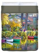 Late Afternoon Stroll Duvet Cover by Chuck Staley