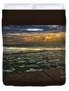 Late Afternoon Swimmer Duvet Cover
