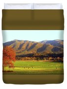 Late Autumn Afternoon In Cades Cove Duvet Cover