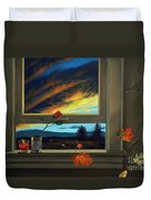 Late Autumn Breeze By Christopher Shellhammer Duvet Cover