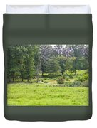 Late Summer By The Pond Duvet Cover