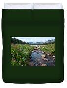 Late Summer Mountain Landscape Duvet Cover