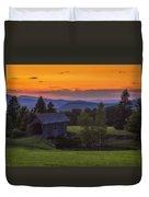 Late Summer Sunset Duvet Cover