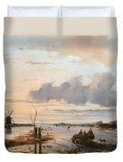 Late Winter In Holland Duvet Cover