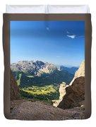 Latemar Mount From Vaiolon Pass Duvet Cover