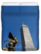 Latin American Tower And Statue Duvet Cover