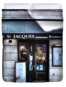 Latin St Jacques Paris France Duvet Cover