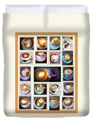 Latte Art Collage Duvet Cover