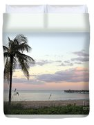 Lauderdale By The Sea Florida Sunset Duvet Cover