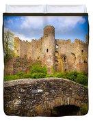 Laugharne Castle Duvet Cover