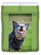 Laughing Dog Duvet Cover