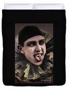 Laughing Pierrot Clown Vintage Art Duvet Cover