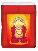 Laughing Rainbow Buddha Duvet Cover