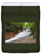 Laughing Whitefish Waterfall Duvet Cover