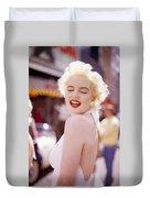 Laughter Of Marilyn Duvet Cover