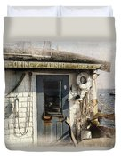 Launch Office Mcmillian Wharf Provincetown Duvet Cover