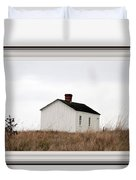 Laundress House At American Camp Duvet Cover
