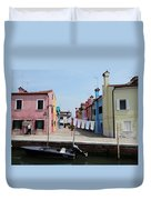 Laundry Day In Burano Duvet Cover