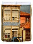 Laundry Day In Porto - Photo Duvet Cover