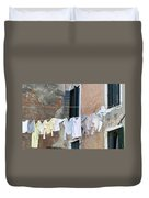 Laundry I Color Venice Italy Duvet Cover