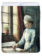 Laundry Maid Duvet Cover by English School