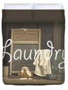 Laundry Room Sign Duvet Cover