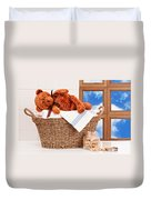 Laundry With Teddy Duvet Cover