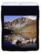 Laural Mountain Convict Lake California Duvet Cover by Bob and Nadine Johnston