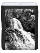 Laurel Falls Smoky Mountains 2 Bw Duvet Cover