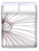 Lavatera Flower Stamen Macro  Duvet Cover