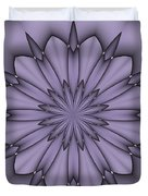 Lavender Abstract Flower Duvet Cover