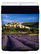Lavender And Banon Duvet Cover