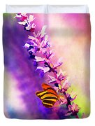 Lavender And Butterlies Duvet Cover