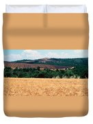 Lavender And Corn Fields In Summer Duvet Cover
